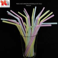 Eco-friendly, Qualified Flexible Plastic Drinking Straws Neon Colors