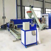 High Quality Double-stage waste plastic polypropylene pe film eps pelletizer extruder