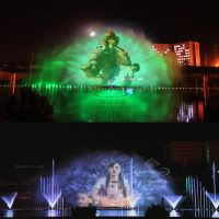 China Large Scale Laser Water Screen Movie Music Fountain