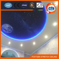 POP Curtain wall pvc stretch ceiling film for ceiling and wall design