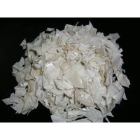PET Flakes Milky White & Silver