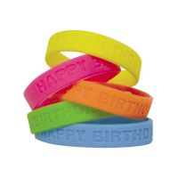 rubber printed wristbands