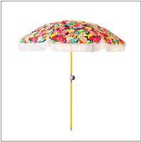Luxury beach umbrella with cotton trim 180 thumbnail image