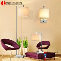 factory wholesale 201/304 stainless steel table lamp with usb port socket for hotel guest room serie