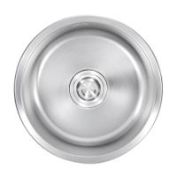 stainless steel round corner satin kitchen sink