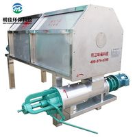 cow dung processing machine/farm waste dewater machine/ solid liquid separating equipment thumbnail image