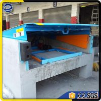 CE approved 10tons hydraulic loading stationary dock ramp dock leveler