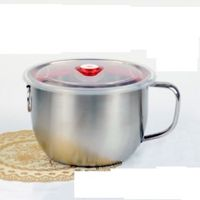 Noodle Bowl Stainless Steel 1300ml Soup Bowls with Lid