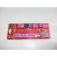 pink polyester grosgrain ribbon dog lead and collar thumbnail image