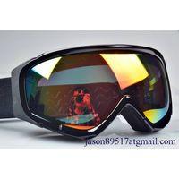 Anti fog printed logo ski goggles