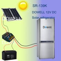 DC fridge 139L with solar power supply