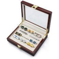 Luxury Custom Wooden Veneer Jewelry Storage Box for Women