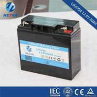 Lithium iron phosphatela LiFePO4 12.8V 20Ah solar battery packLead acid replacement LiFePO4 12V 20Ah