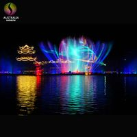 Outdoor Multimedia Water Screen Laser Fountain Show For Lake