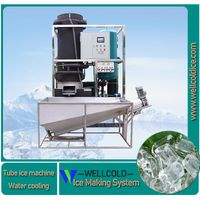 PLC control 2T tube ice making machine with packing system used for ice selling