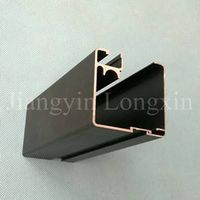 Aluminum window & door profile with black anodizing