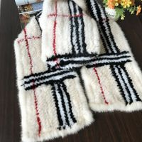 Mink fur scarf knitted by quality European mink fur