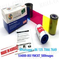 Compatible Datacard Ribbon 534000-003 YMCKT 500 Prints and Cleaning Kits SD260 SD360 SD460 SP75 SP35 thumbnail image