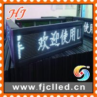 Semi-outdoor P10 Single White Color LED Strip Sign/ LED Display