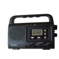 Solar radio with alarm clock