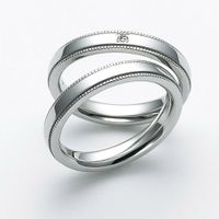 Design simple s925 sterling silver ring couple ring thumbnail image