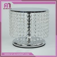 Wedding & Home Decoration Beaded Crystal Candle Holder / Candlestick