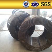 12.7mm pc steel strand prestressed concrete steel strand floor slab wire / PC steel strands for conc