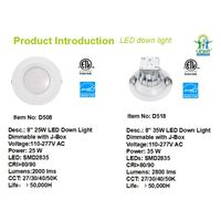 "New cETLus and Energy Star Approved 8"" Down Light Dimmable with Junction Box"