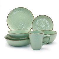 ceramic burgundy dinner set dinnerware 16pcs square classic vintage edge ceramic stoneware