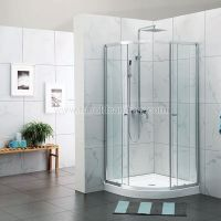 Framed Round Shower Cabins With Double Sliding Doors