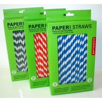Display box biodegradable paper drinking straws