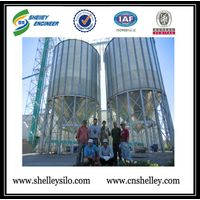 1000ton galvanized barley silo for grain storage