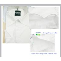 Custom Men Shirt with swooped back collar