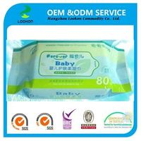 2014 80pcs baby skin care organic wipes OEM welcomed