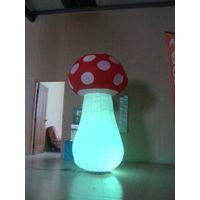 inflatable mushroom with colorful lights
