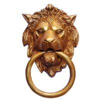 Brass metal made Lion Face Shackle Door Knocker By Aakrati