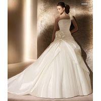 Goingwedding One Shoulder Taffeta Tulle Puffy Skirt Long Tail Wedding Dresses SP017 thumbnail image