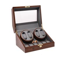 Automatic Watch Winder Wooden Storage Case Display Box for Watches Quiet Motor Matt Finishing