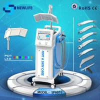 NL-SPA810 Multifunctional 8 in1 Microdermabrasion oxyegn jet pdt led light beauty machine