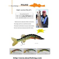 Expo rewarded 20cm Musky pike multi jointed fishing lure swimbait