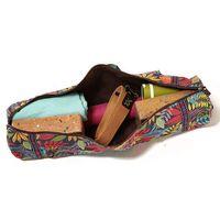 Elegant Printing Cotton Canvas Yoga Mat Bag with Shoulder Strap