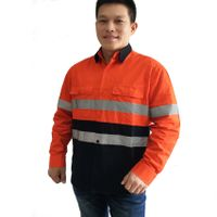 Modern Cotton High Vis Work Shirt Construction Mining Safety Clothing Factory Manufacture Wholesale