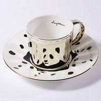 Luycho Mirror Cup & Saucer - Panda Dalmasian