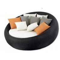 New design Outdoor furniture Leisure Rattan furniture round sun lounger