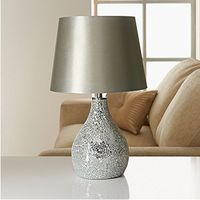 Promotion Glass decor Table Lamp Desk Lamp modern cloth shade