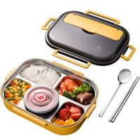 Wheat straw rectangle lunch box high quality food grade lunch box whol thumbnail image