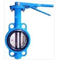 wafer type butterfly valve / lever gearbox butterfly valve