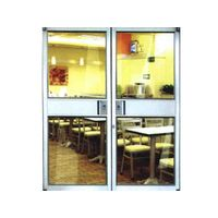aluminium glass entry swing kfc door