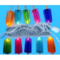 UL 120V PVC wire LED light string with popsicle cover