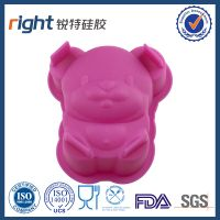 Cute silicone pet pig cakemold